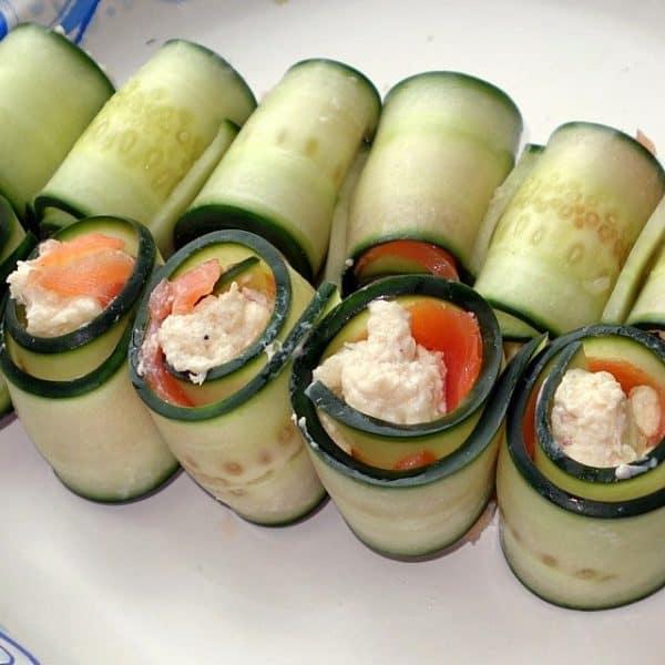 Bread-less Cucumber Sandwiches