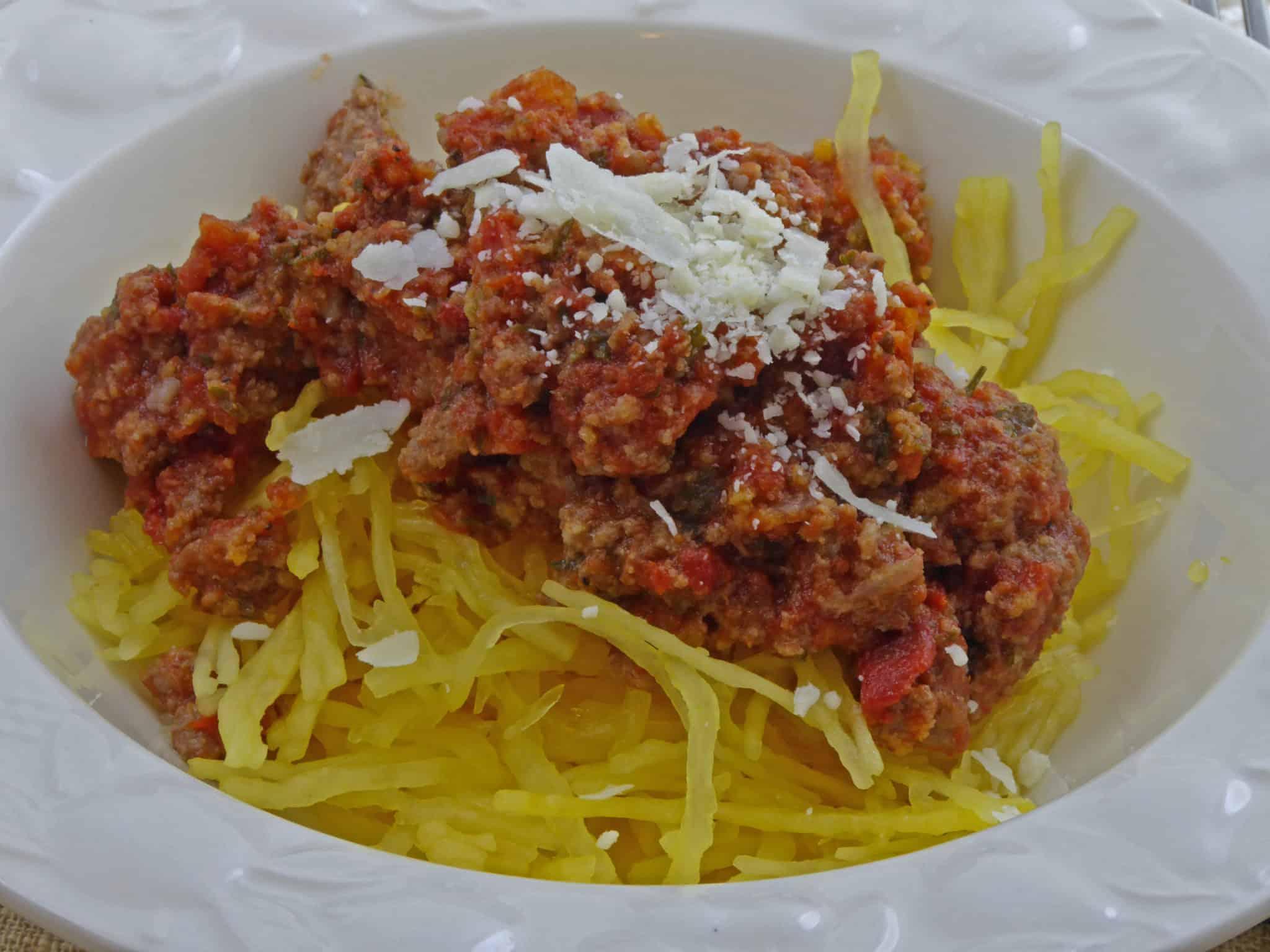 Keto Lasagna Stuffed Spaghetti Squash